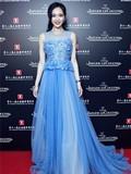 2015上海电影节唐嫣红毯造型 山寨Elie Saab礼服穿出真货质感