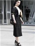 范冰冰现身2015巴黎时装周 黑金朋克造型压轴亮相