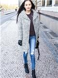 杨幂冬季服装穿衣搭配LOOK 最爱穿优雅呢子大衣