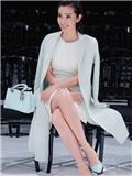 李冰冰首次亮相巴黎时装周 白裙优雅助阵Dior2015大秀