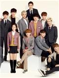 EXO与Red Velvet Irene校服画报 学生服装活泼可爱萌萌哒