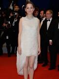 玛丽昂·歌迪亚着Dior连衣裙现身戛纳电影节红毯