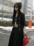 冬季范冰冰穿衣搭配图片 简单服饰穿出时尚大牌风