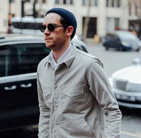 尖尖帽怎么戴好看 男装周街拍达人示范