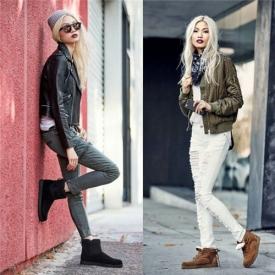 雪地靴怎么搭配好看,雪地靴搭配图片女,,一脚蹬雪地靴搭配图片