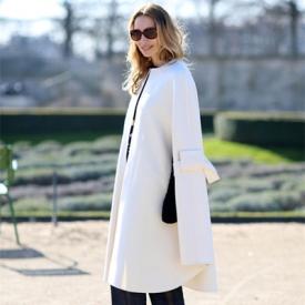 白色大衣搭配图片女装,女款白色大衣搭配图片,白色大衣怎么搭配好看