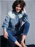 冬季牛仔外套搭配图片欣赏,冬季牛仔外套搭配女,牛仔外套搭配图片女冬装