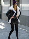 冬季羊羔毛外套搭配图片,冬季羊羔毛外套怎么搭配图片,羊羔毛外套搭配图片