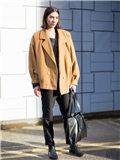 驼色外套搭配图片 最具质感的冬季色彩