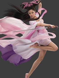 刘亦菲代言网游《倩女幽魂2》 展现纤长美腿犹如仙女下凡