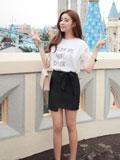 矮个子女生穿衣搭配技巧  初夏T恤配短裙实用又轻便