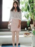 矮个子女生显瘦穿衣搭配  衬衫+短裙穿出清新淑女范