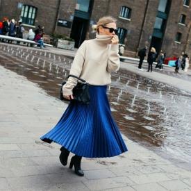 2016秋冬伦敦时装周街拍 天公作美让早春秀都快玩疯了