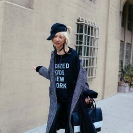 纽约时装周街拍tips 用卫衣凹造型谁还说一点也不酷