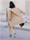 驼色呢子大衣搭配图片 不同款型集结演绎