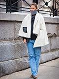 冬季牛仔裤街拍图片 怎么穿保暖又时尚