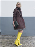 欧美街拍冬季女  外媒直评最佳街头风尚