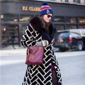 2015秋冬大衣纽约街拍,2015秋冬女装街拍图片
