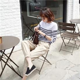 韩国最新时尚街拍 时髦达人教你玩转哈伦裤