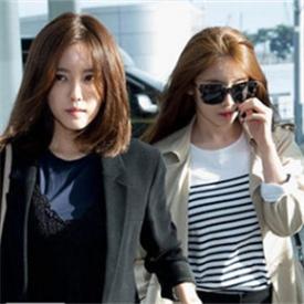 T-ara组合成员朴孝敏最新机场街拍 镂空透视裙穿出春日浪漫风情