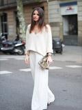 欧美达人时尚街拍图片 阔脚裤显瘦巧搭术