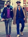 伦敦男士街拍,欧美冬季潮士街拍,型男街拍