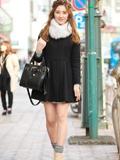 日本美女时尚街拍图片 早春好感女孩华丽变身
