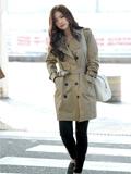 韩国女团A Pink机场街拍 孙娜恩经典款风衣出街显知性