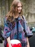 米兰时装周街拍图片 欧美超模师范时尚搭配
