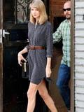 连衣裙腰带搭起来 欧美女星时尚复古街拍(图)