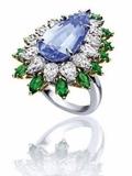 奢侈品彩色半宝石戒指图赏