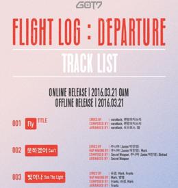 GOT7新专辑《Flight Log: Departure》歌单公开 成员展创作才能