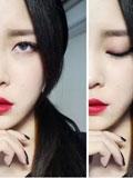 复古红唇妆容怎么化,红唇复古妆容画法,大红唇复古妆容教程