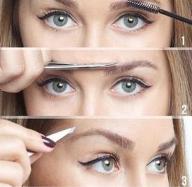 怎么修眉毛好看图解,眉毛修剪方法,修眉教程图解