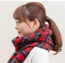 冬天马尾怎么扎好看 搭配围巾更美美哒