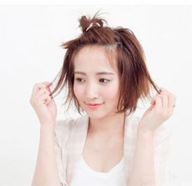 可爱发型扎法步骤,可爱发型扎法图解简单,可爱发型扎法图片