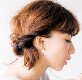 齐脖短发扎发发型步骤,短发扎发发型步骤,短发扎法图解