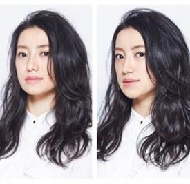 微卷中长发烫发发型,中长发微卷发型图片,微卷中长发烫发发型