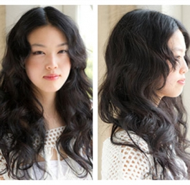 2016中分卷发发型图片,中分卷发发型图片中长发,中分卷发发型图片2016