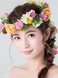 2015韩式新娘发饰发型 发饰点缀倍添满分迷人魅力