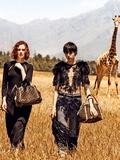 LV最新广告大片 凯伦·艾尔森与长颈鹿共出镜