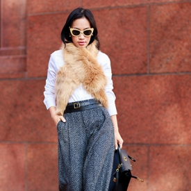 Nini Nguyen:皮草搭肩穿出只属于你的风格