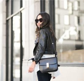 Wendy Nguyen:皮衣黑裤街头风杠杠的