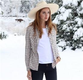 嘉拉·法拉格尼 (Chiara Ferragni)冬雪休闲造型