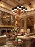 欧式客厅装修设计图 流行风格色彩盛行