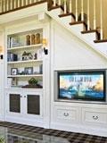 客厅电视背景墙效果图  巧妙利用释放大空间出来