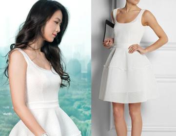 女神汤唯示范夏季流行连衣裙的搭配技巧